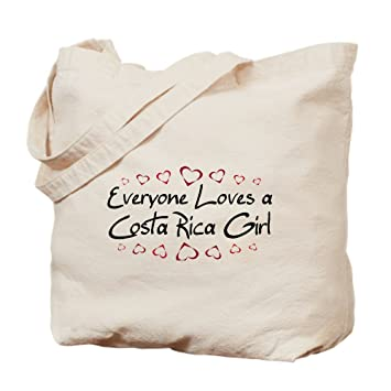 CafePress Costa Rica - Bolso para niña, lona, caqui, Medium: Amazon ...