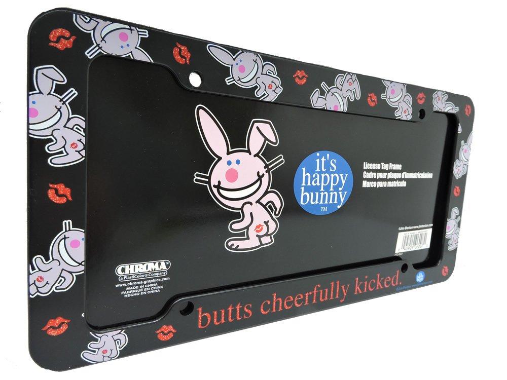 Amazon.com: It\'s Happy Bunny - butts cheerfully kicked - Auto, Truck ...