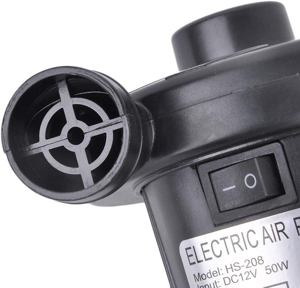 Elektrische Pumpe mit 3 Luftd/üse Ideal zum Campen Aufblasbarer Kissen Luftmatratze Luftsofa Poolspielzeug MathRose Elektrische Luftpumpe Pumpe Luftmatratze Inflator-Deflator Boot
