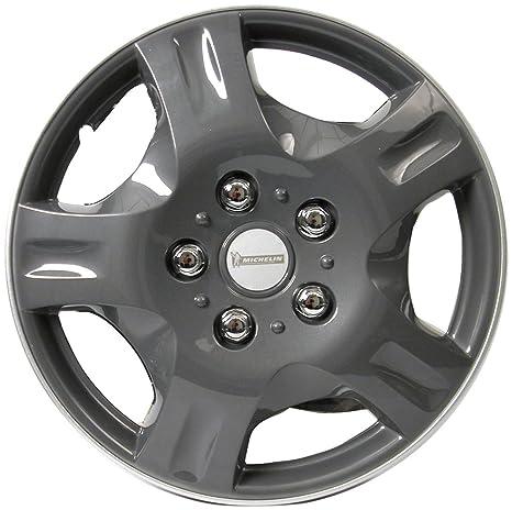 "Michelin 0090 NVS 942 - Tapacubos (4 unidades), color gris 13"" pulgadas"