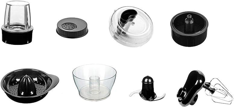 H.Koenig ACMX18 Juego de accesorios para procesador de alimentos multifunción MX18, Acero Inoxidable, plástico, Único: Amazon.es: Hogar