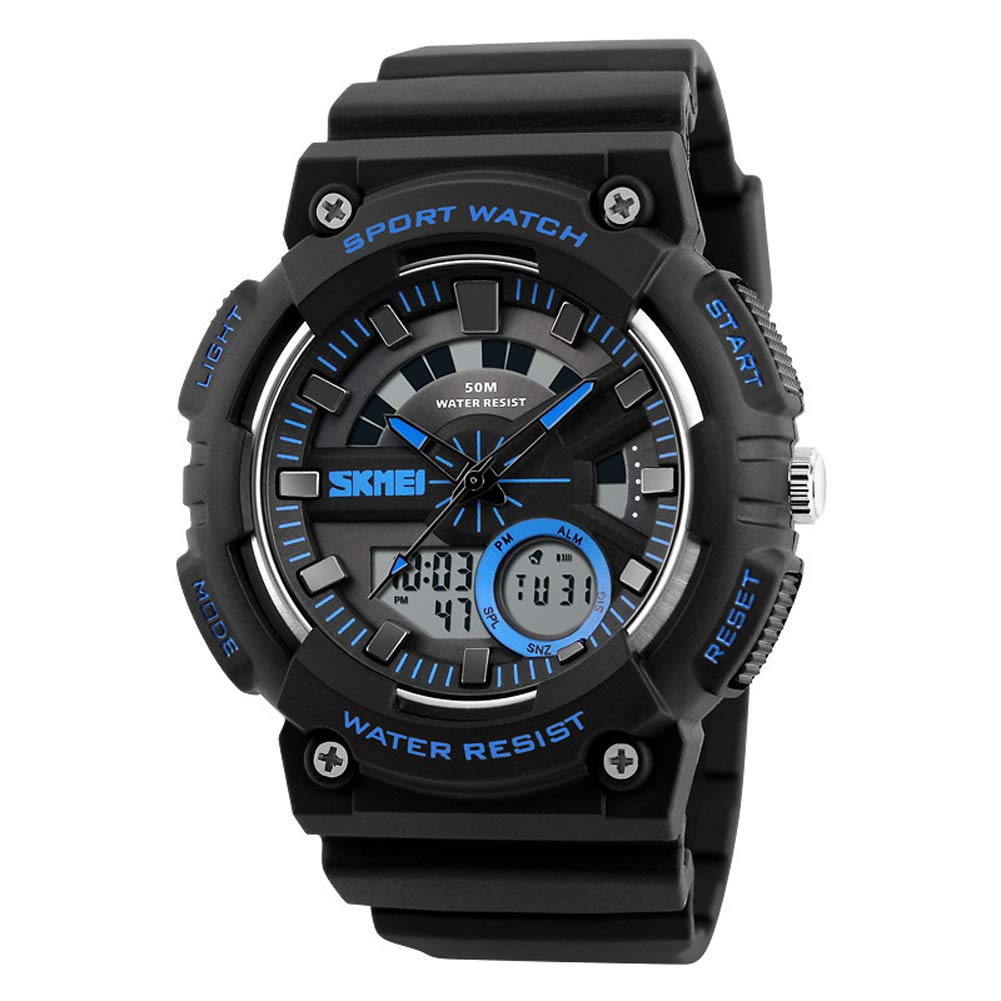 SPORS Men's Outdoor Trend Watch, Sports Electronic Watch, Multi-Function Student Watch-Blue by SPORS