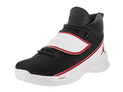 1b1effde7dbc Jordan Nike Men s Super.Fly 5 PO Black Gym Red White Basketball Shoe