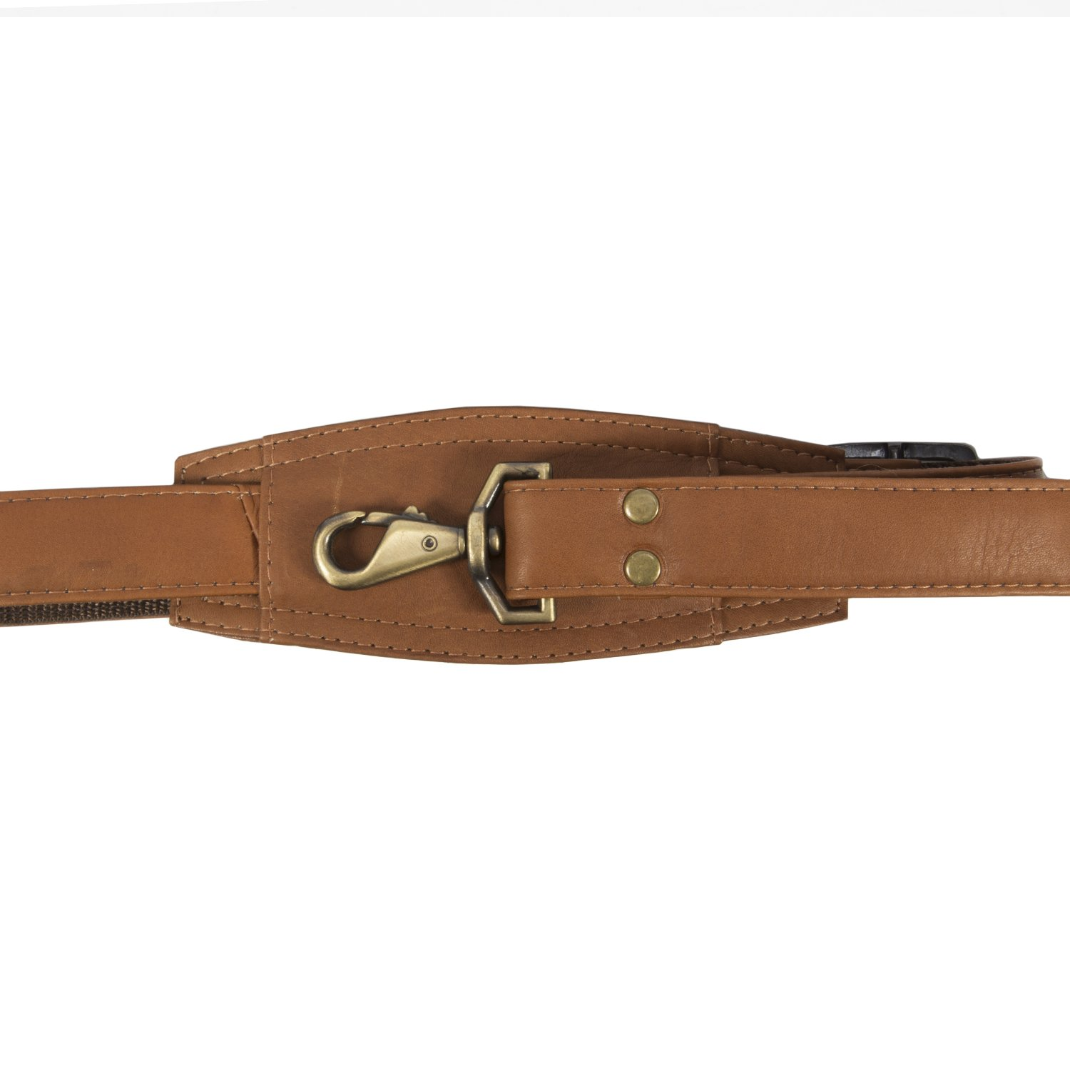Muiska Leather Top-Zip 17 Inch Laptop Briefcase, Saddle, One Size by Muiska (Image #7)