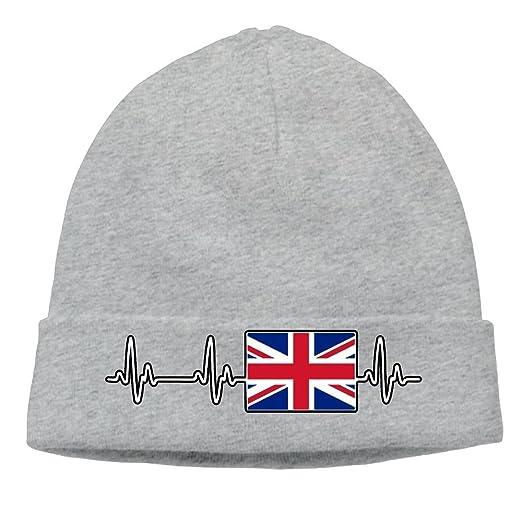 09 JGJG British Heartbeat-1 Men Women Knit Beanie Cap Winter Warm Knit Beanie  Cap ffedf626ac9