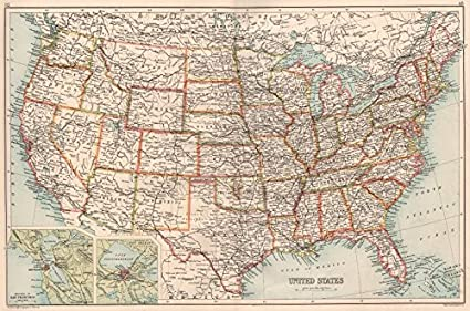 Amazoncom Usa Shows Oklahoma Territory San Francisco New - New-orleans-us-map