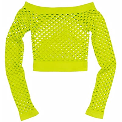 Neon Citric Green Fishnet Top: Toys & Games