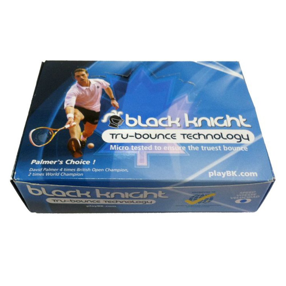 Black Knight Tru-Bounce Blue Dot Squash Ball (Dozen)   B01MSN2JUI