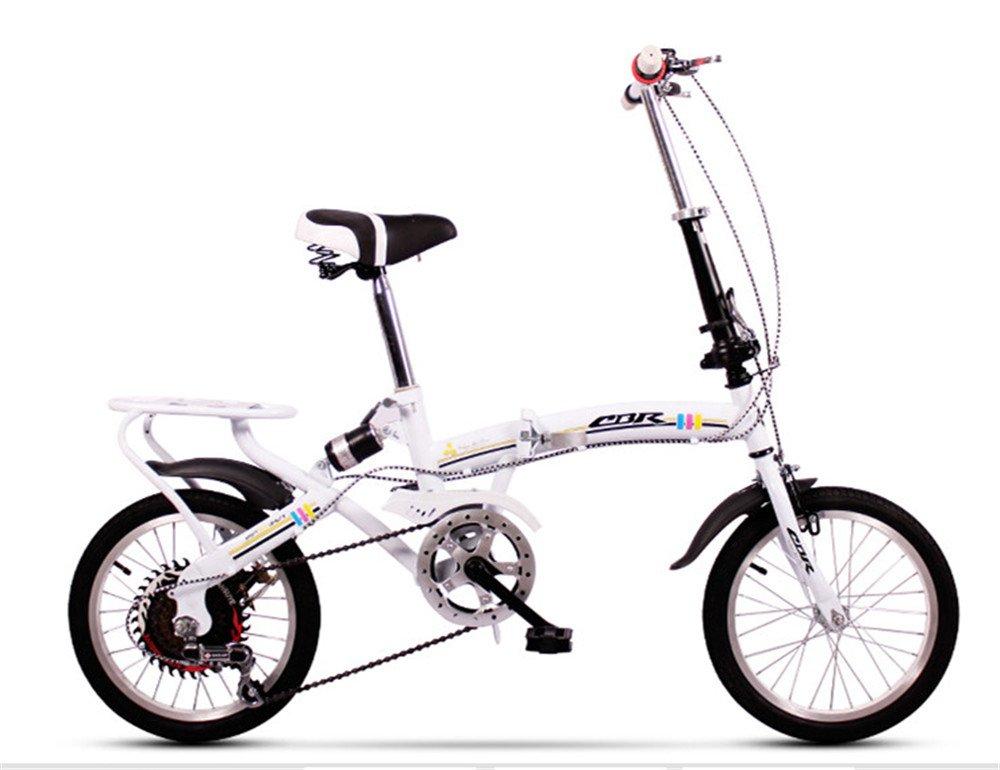 折りたたみ自転車 折り畳み 16インチ 20インチ 変速自転車 単速  変速 通勤 通学 小型 小径 簡単収納 B07BTV5L23 16インチ変速|F F 16インチ変速