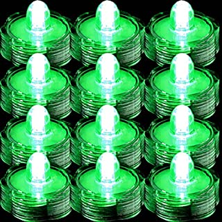 TDLTEK Waterproof Submersible Led Lights Tea Lights for Wedding, Party, Decoration (36 Pieces Green)