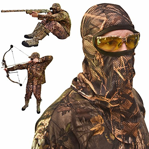 DecoyPro Camo Face Mask – Camo Face Mask Hunting Mask – Turkey Hunting Face Mask – Bow Hunting Face Mask Mesh – Duck Hunting Face Mask – Camouflage Face Mask Hunting