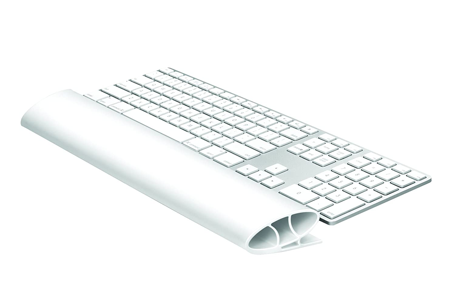 Fellowes I-Spire Series - Reposamuñecas para teclado, flexible, color blanco 9394201
