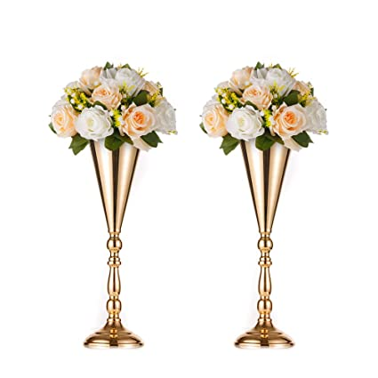 Home & Garden Festive & Party Supplies Artificial Flower Bouquet With Metal Flower Rack Wedding Flower Table Centerpieces Home Crafts Metal Stand With Flowers Ball Moderate Price