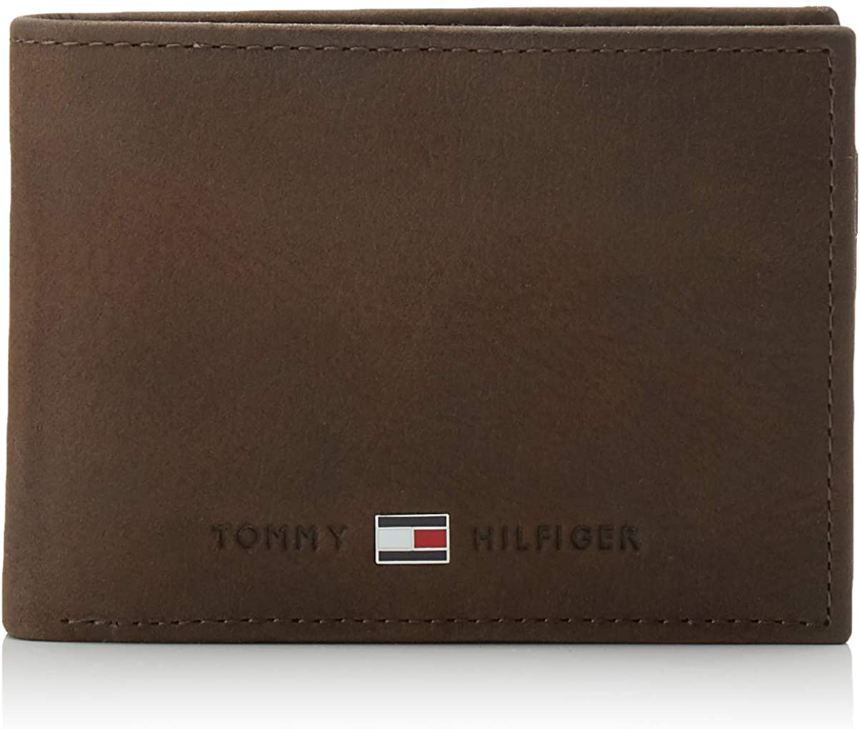Details about TOMMY HILFIGER Johnson CC Flap And Coin Pocket Cash Wallet Black