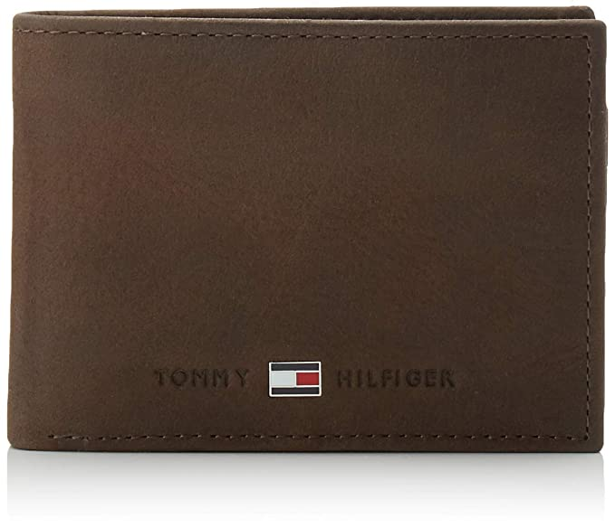Tommy Hilfiger Johnson Mini CC Flap and Coin Pocket, Cartera Hombre^Mujer, Brown