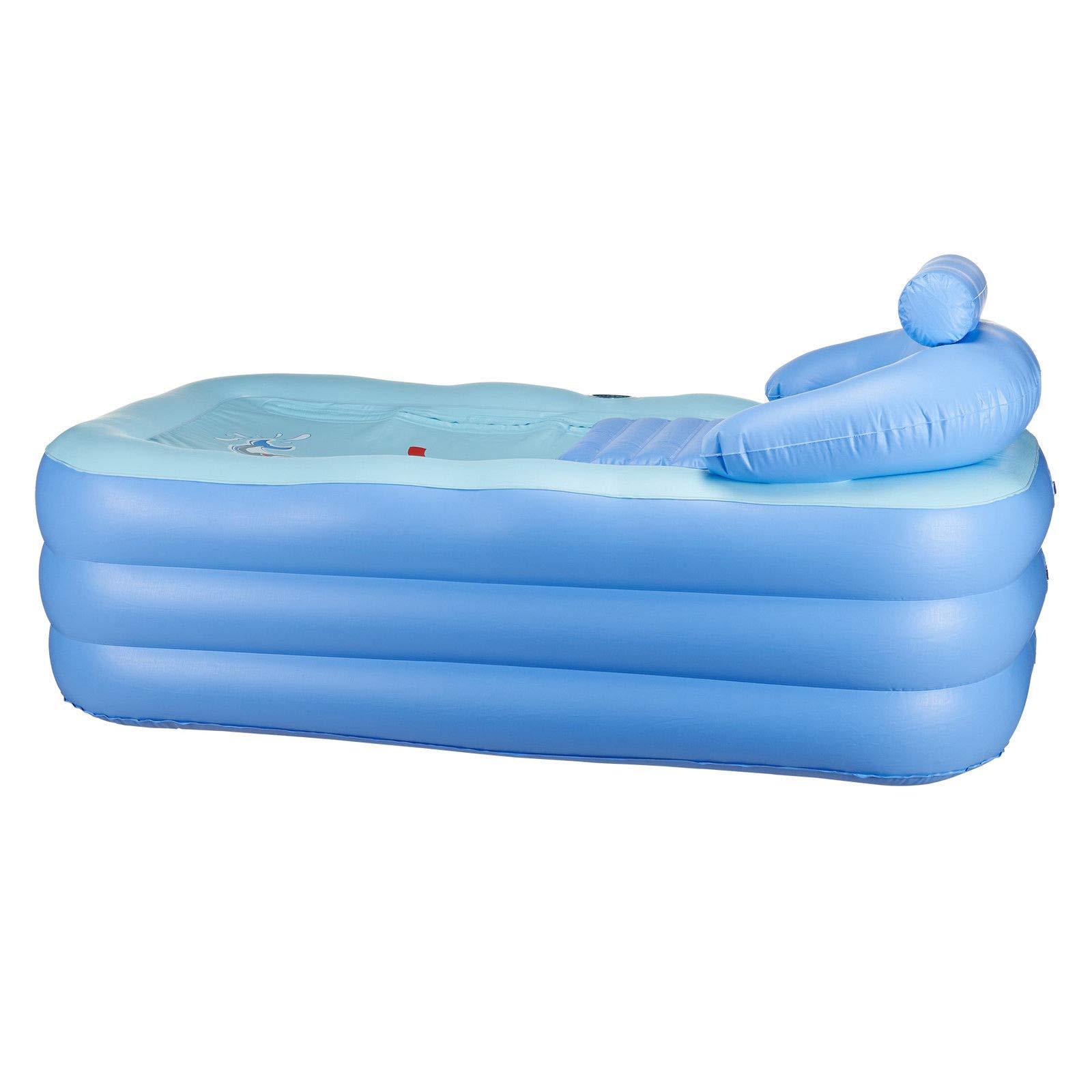 LZHQT Blow Up Adult PVC Folding Portable Foldable Bathtub Inflatable Bath Tub Air Pump by LZHQT (Image #4)