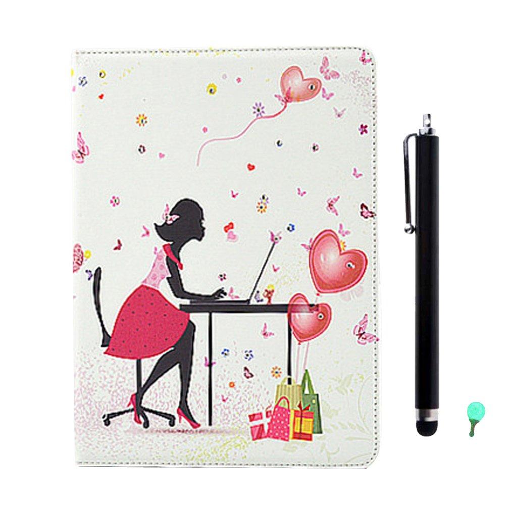 Mariposa de ni/ña 1 Stylus Pen Enchufe del Polvo Aohro Funda Piel para Samsung Galaxy Tab S 8.4 Pulgadas SM-T700 // T705 Tableta Bling Diamante PU Cuero Flip Protector Carcasa Book Case Cover