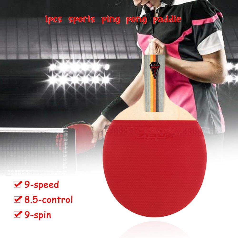 Amazon.com : Lixada 1pcs Sports Ping Pong Paddle Racket Long/Short Handle Dual-side Shake-hand Pen-hold Looping-style Table Tennis Racket Bat with Case ...