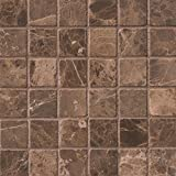 MS International AMZ-MD-00035 Emperador Dark Tile, 12in. x 12in, Brown, 10 Piece