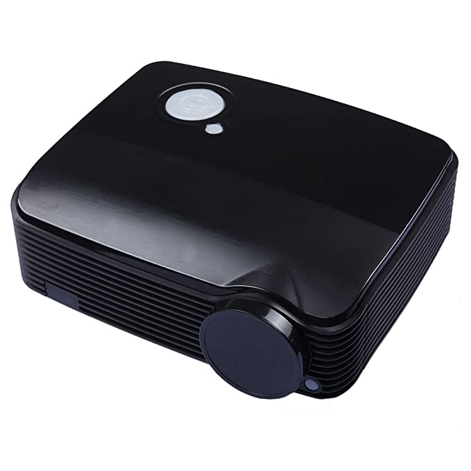 DBPOWER® BL-19 LED Proyector del Teatro Casero Proyector Portátil Proyector con 2600 Lúmenes de Brillo, Nativa Resolución de 800*480 Soporte 720P ...