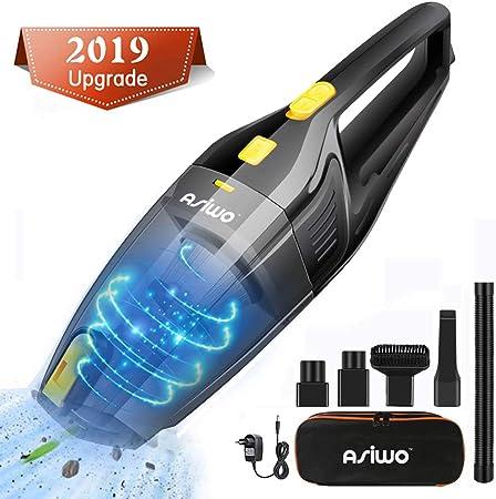 Asiwo Aspiradora de Mano Sin Cable, 7000PA 120W Aspirador Mano con Succión Potente, 3 Cepillos, flitro HEPA y Motor Potente para el hogar y el Coche: Amazon.es: Hogar