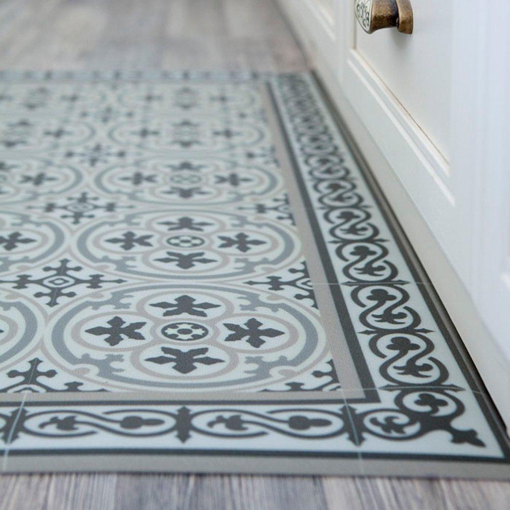 Amazon.com: PVC vinyl mat Carpet Tiles Pattern Decorative linoleum ...