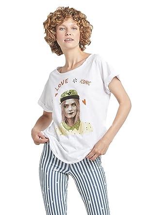 Dear Tee Camiseta Mujer Cara Delevingne Iconic M: Amazon.es: Ropa y accesorios
