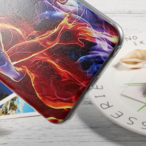 Softlyfit Embossing TPU Protection Tasche Hüllen Schutzhülle - Case für iPhone 6s 6 - Embrace Love Flame Lovers