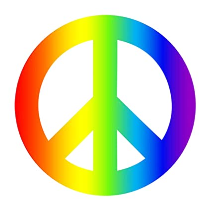 Amazoncom 4 Pack Rainbow Peace Sign Car Decal Bumper Sticker Gay
