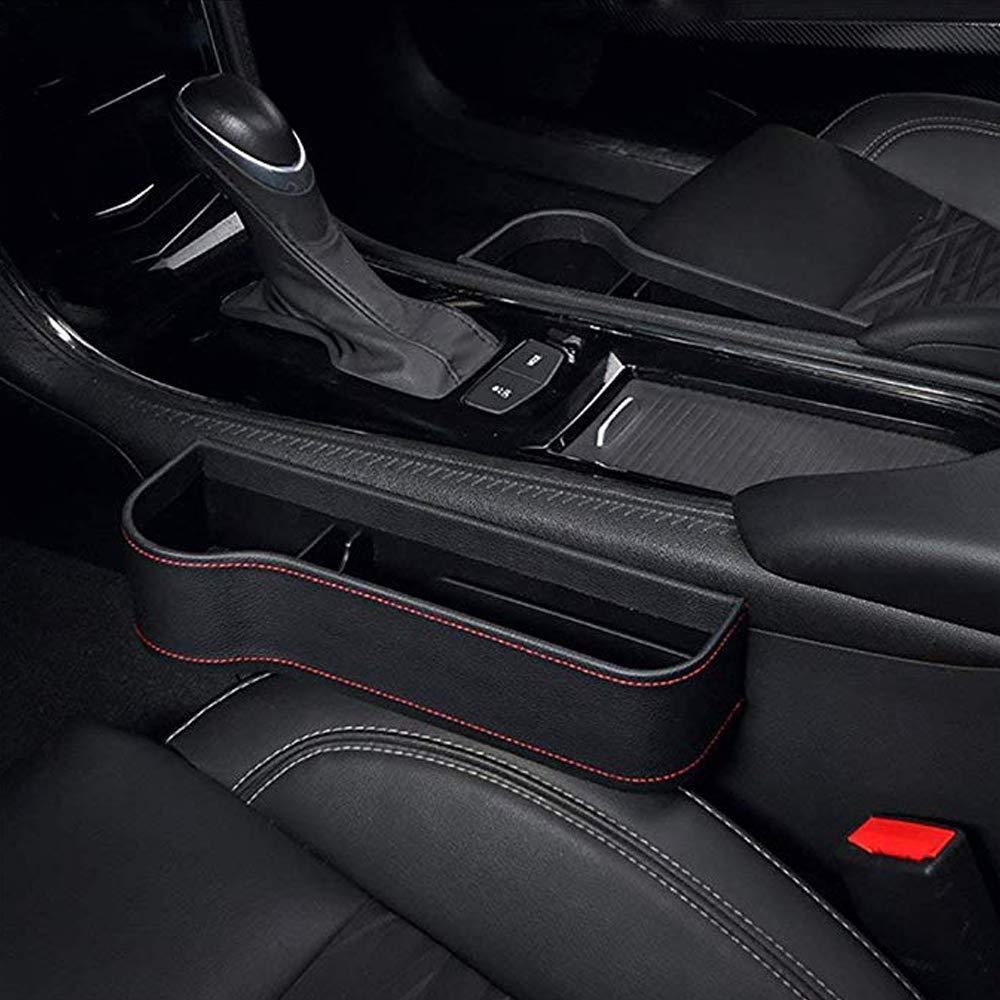 Seat Side Drop Catcher Tablett PU-Leder auslaufsicherer Aufbewahrungsbox Organizer Autositz Side Gap Filler Seat Crevice Slit Pockets HPiano Autositz Gap Aufbewahrungsbox Organizer
