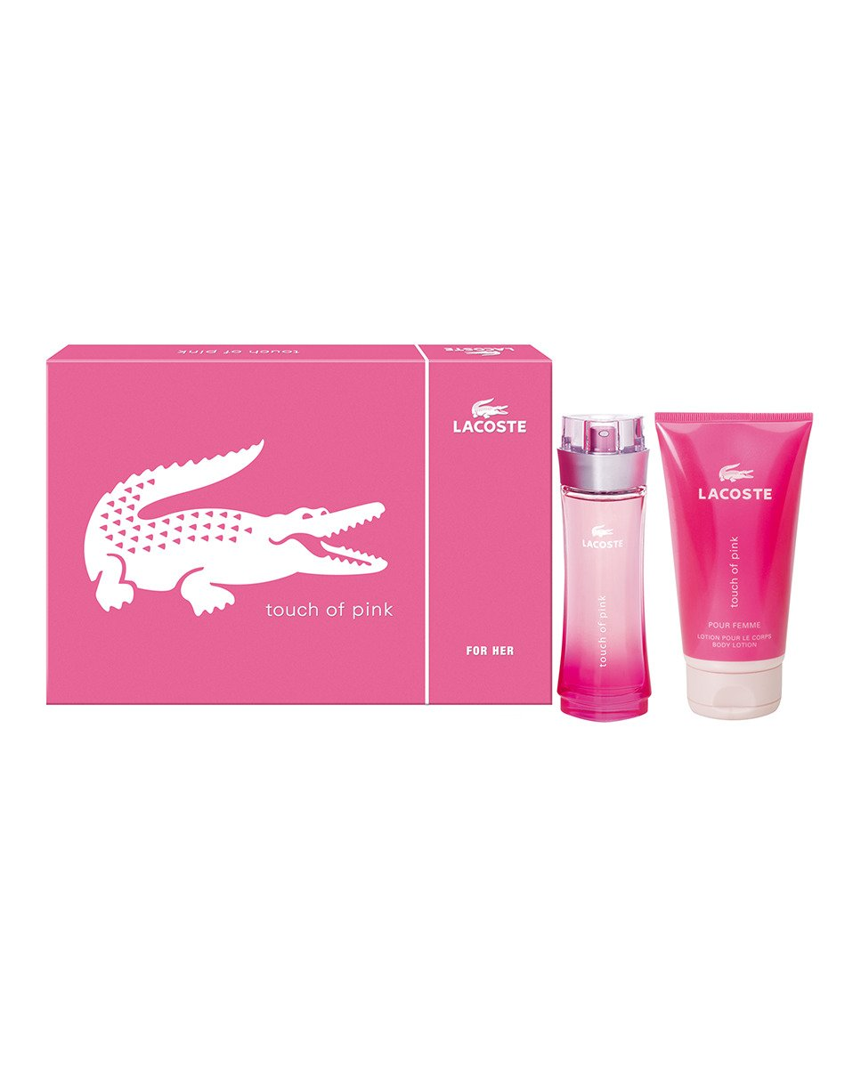 Lacoste Touch Of Pink Perfume, Loción y Neceser - 1 pack