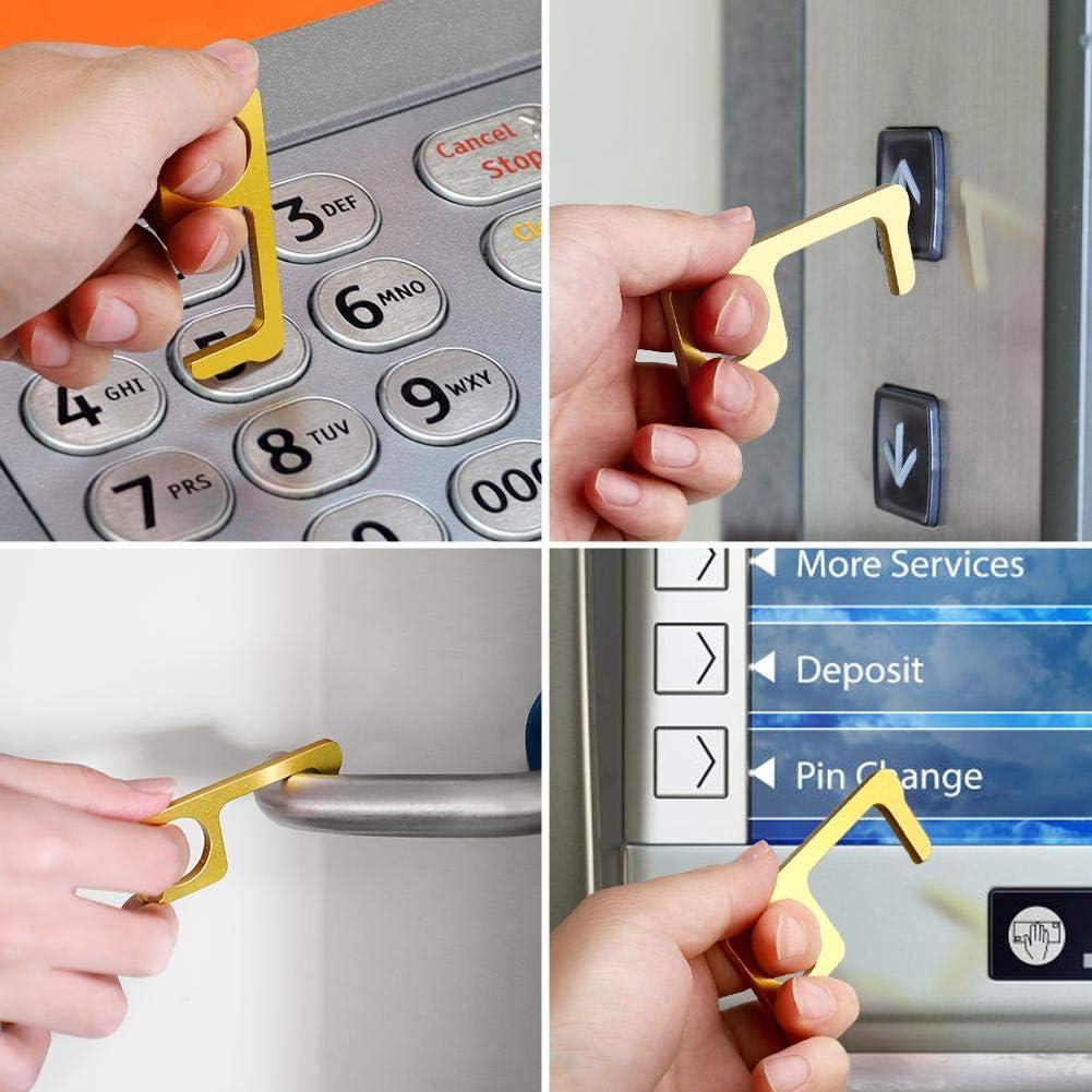 1 ouvre-porte sans contact EDC en alliage de zinc multifonction avec boucle de crochet hygi/ène porte-cl/és Buynow