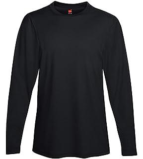 6b62624615ae Hanes Men's Long Sleeve Cool Dri T-Shirt UPF 50+ (Pack of 2) at ...