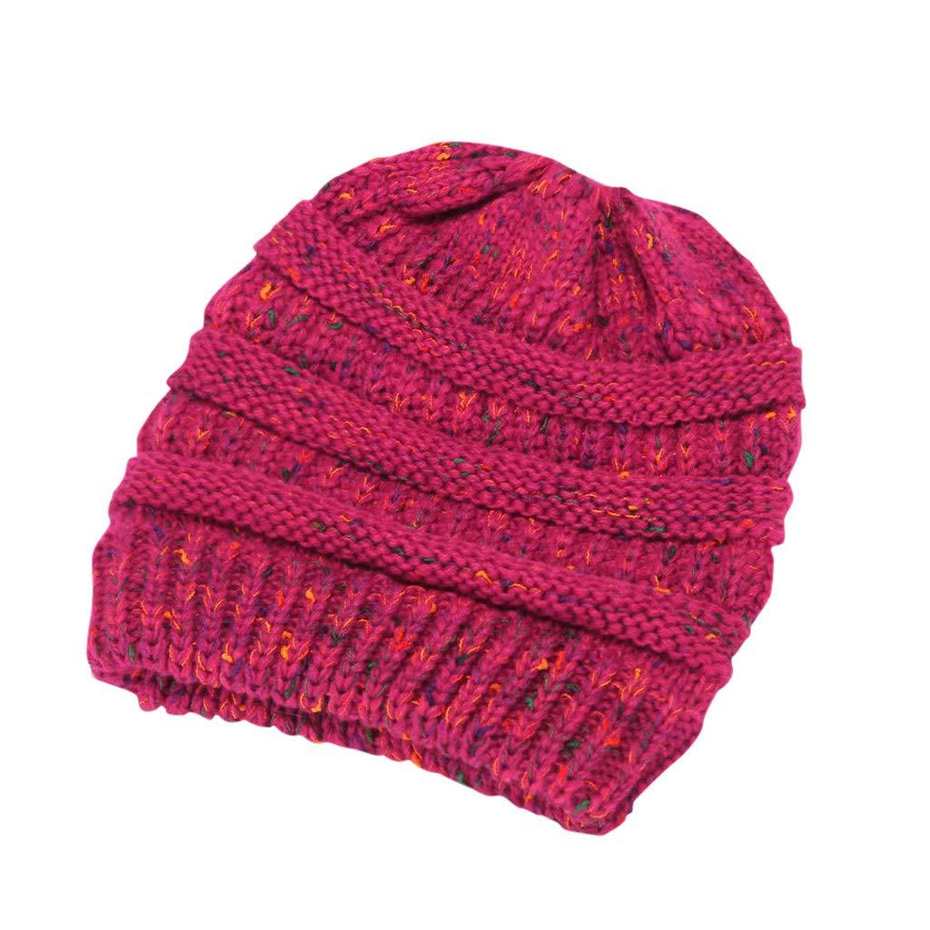 Firally Donne Inverno Caldo Stretch Maglia Berretto a Maglia Elastico Cappello Invernale Donna Cappelli e Cappellini