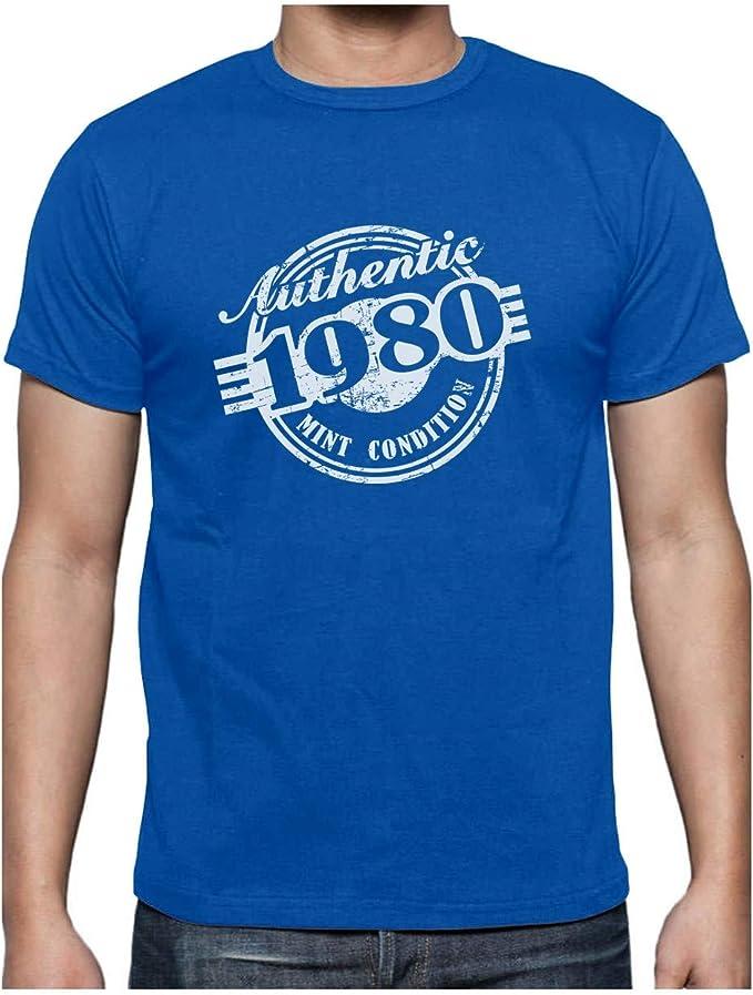 Green Turtle Camiseta para Hombre - Regalo 40 Años Hombre - Authentic 1980 Mint Condition: Amazon.es: Ropa y accesorios