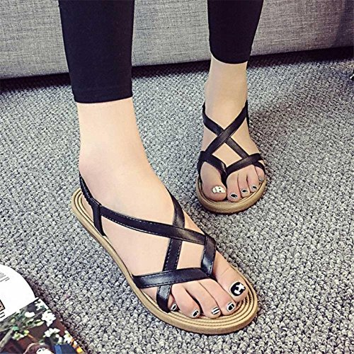 LHWY Damen Verband Bohemia leisure Lady Sandalen Peep-Toe Outdoor Schuhe Black
