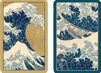 Caspari PC133 The Great Wave Conjunto de Dos Cartas Papel 13 ...