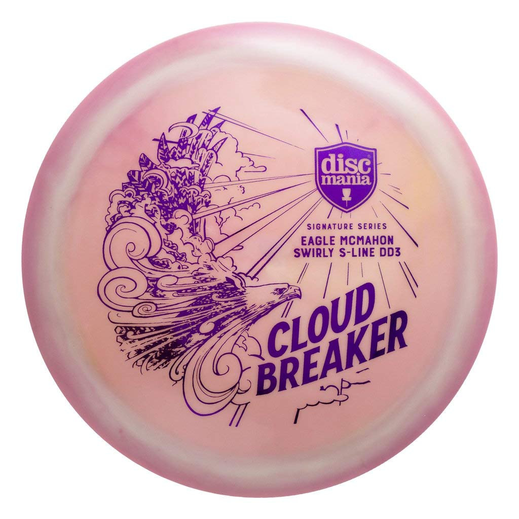 Discmania Limited Edition Eagle McMahon Signature Cloud Breaker Swirly S-Line DD3 Distance Driver Golf Disc [Colors May Vary] - 173-175g by Discmania