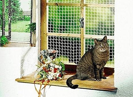 Red de seguridad 2 x 2 m blanco Gato Red Balcón Red Red de protección para gato gato Accesorios: Amazon.es: Productos para mascotas