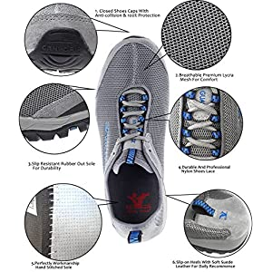 Mens Water Shoes Slip On Quick Drying Lightweight Beach Pool Walking Shoe