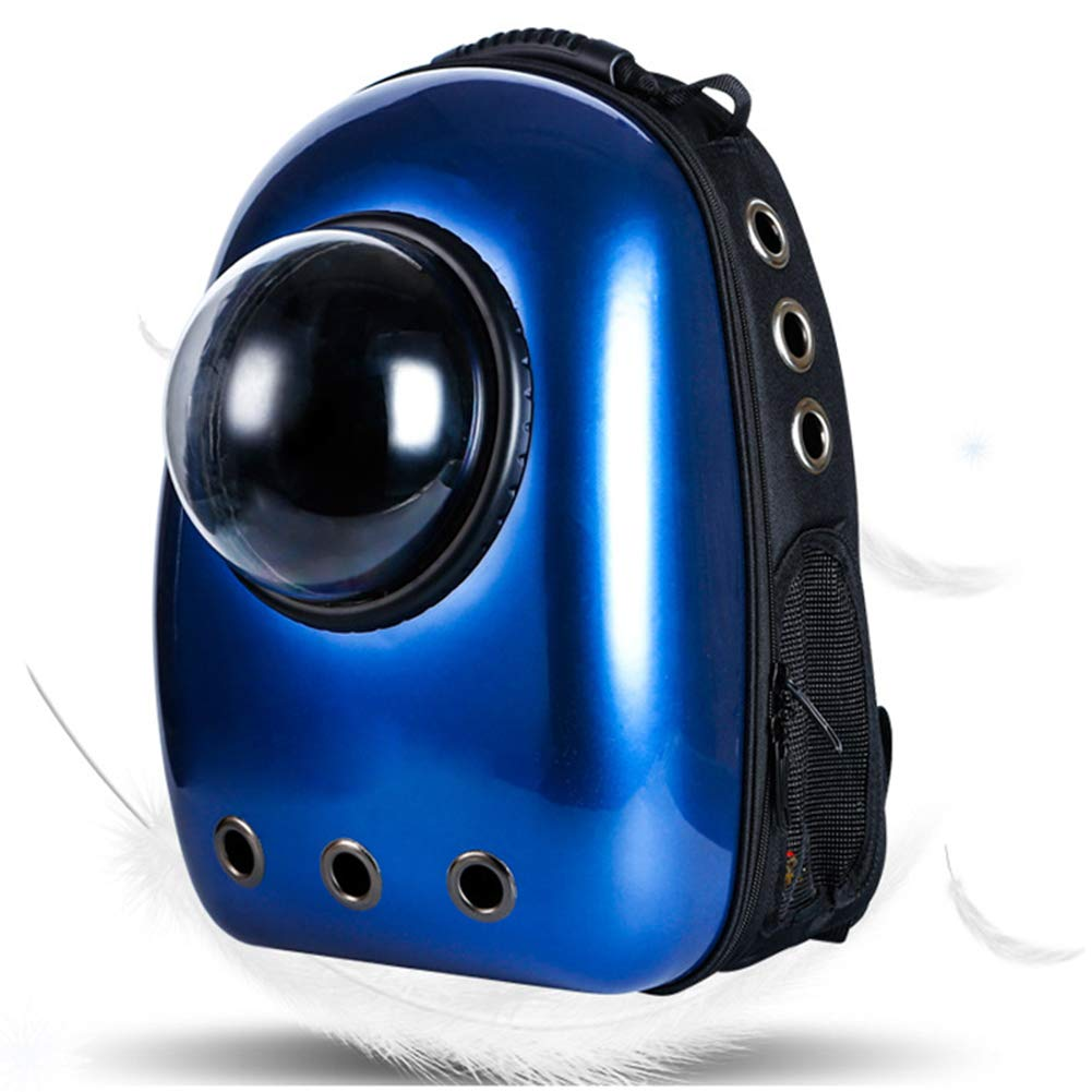 bluee Pet Cat Bubble Backpack Portable Pet Travel Carrier Space Capsule Pet Handbag Breathable Suitable for Cats and Dogs Capsule Style Lined with Absorbent Pads,bluee