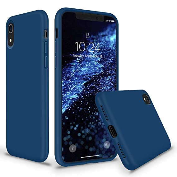 detailed look d46da 15696 SURPHY Silicone Case for iPhone XR, Thicken Liquid Silicone Shockproof  Protective Case Cover (Full Body Thick Case with Microfiber Lining)  Compatible ...