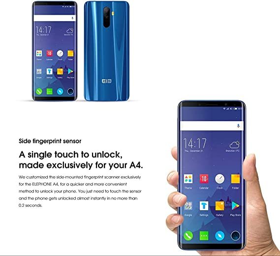 Elephone U 4G Smartphone Face ID Mobile Phone Android 7.1 13.0MP ...