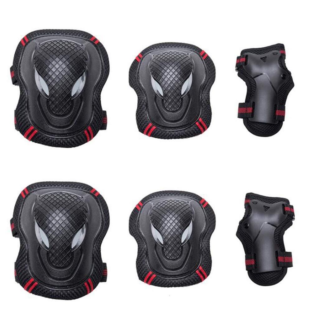 Sportschutzbekleidung-Set , Verstellbare Knie- Und Ellbogenschützer Mit Handgelenkschutz Für Outdoor-Aktivitäten (6 Teile)