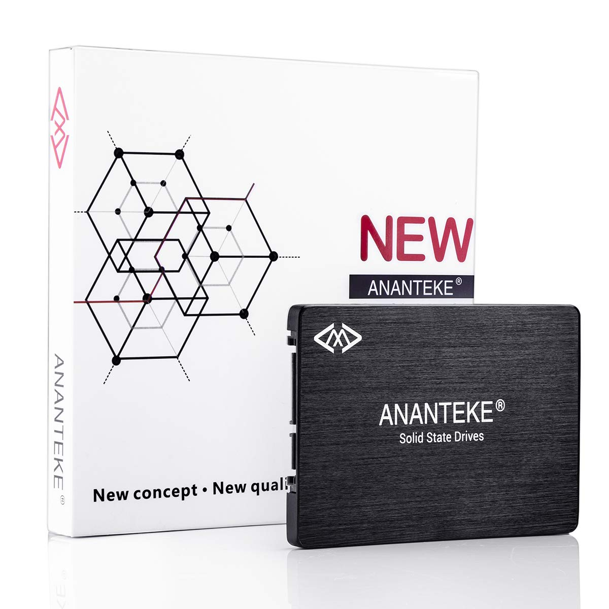 Ananteke 2.5' SSD SATA3 60GB Solid State Drives Internal Hard Drive for Laptop PC Desktop, Up to 350 MB/s