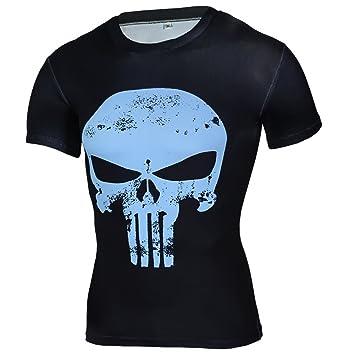Camisas de compresión Hombres 3D Camisetas Impresas Manga Corta Cosplay Fitness Culturismo Hombre Crossfit Tops Punk