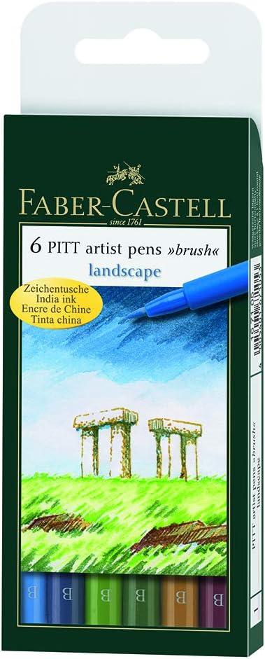 Landscape Tuschestift FABER-CASTELL PITT artist pen 6er Etui