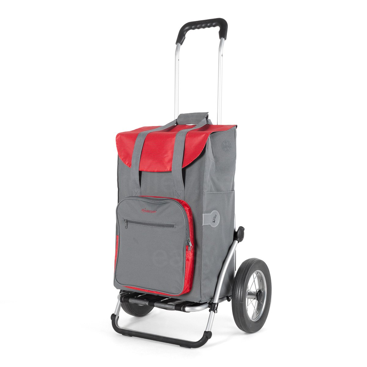 Andersen Shopping trolley Royal with bag Wismar grey, Volume: 45L, thermal bag and aluminium frame Andersen Shopper Manufaktur