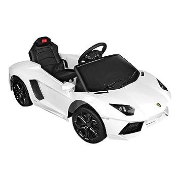 lamborghini aventador rastar licensed 6v childrens kids ride on electric remote toy car white