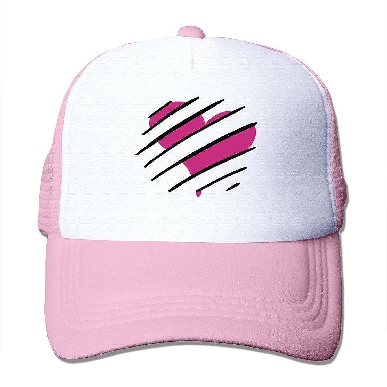 Bro-Custom Hide Heart Love Stripes Pattern Unisex Hat Cap One Size Fit All Black